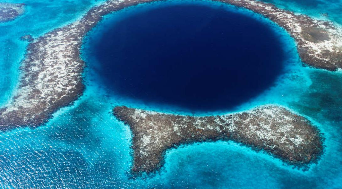 The Blue Hole in Belize is a must see for any bucket list destination